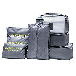 Meowoo 7 set organizzatori di viaggio organizer valigia viaggio ... 0b45e064337