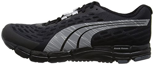 Puma Faas 6 F4  Men s Running Shoes  Black Puma Silver Turbulence  9 5 UK