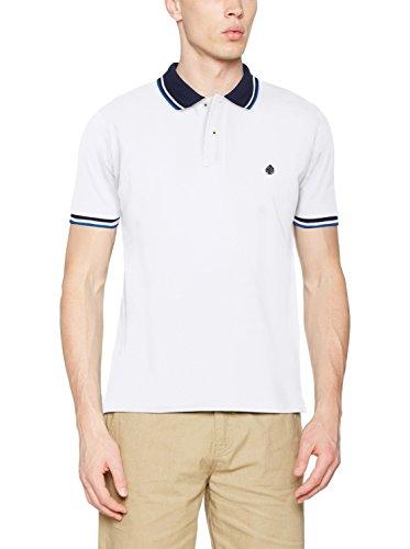 Springfield Herren Poloshirt Contrast Tipping Weiß