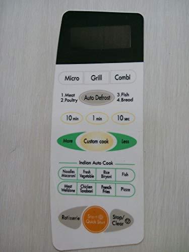 Microwave Oven Membrane Keypad : ABLE : Model No : MG607 :