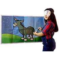 SJ Pin The Tail On The Donkey Boy Or Girls Unisex Classic Wedding Princess Friends Superhero Family Children's Birthday Party Unique Large Game 6 Players