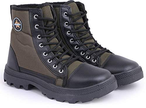 Goldstar Olive Jungle Boots for Men (Size 9 UK/IND(43 EU))
