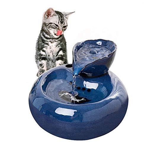 LUYION Katzen Trinkbrunnen Automatischer Futterspender rutschfest Automatisch Leise Haustier Hunde Wasserspender