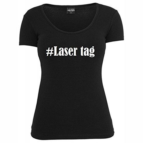 T-Shirt #Laser tag Hashtag Raute für Damen Herren und Kinder ... in den Farben Schwarz und Weiss Schwarz
