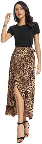 Leoperd printed wrap around Skirt