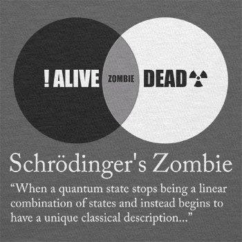Texlab–schroedinger S Zombie–sacchetto di stoffa Grau