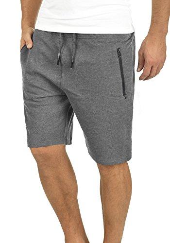 !Solid Taras Herren Sweatshorts Kurze Hose Jogginghose Mit Verschließbaren Eingriffstaschen Und Kordel Regular Fit, Größe:3XL, Farbe:Grey Melange (8236)