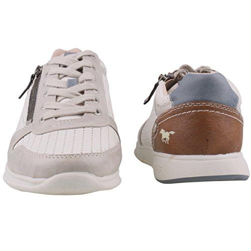 Mustang 4115-305-1, Sneakers Basses Homme Weiß