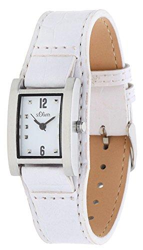 s.Oliver Damen-Armbanduhr Analog Quarz Leder SO-15036-LQR