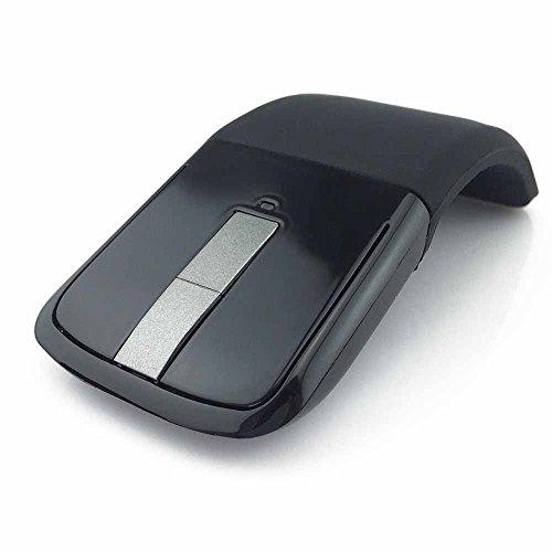 TOOGOO 2.4Ghz Zusammenklappbarer Funkmaus Ultraduennes Mause Arc bruehren Computerspiel Maus Maeuse fuer Microsoft Surface PC Laptop
