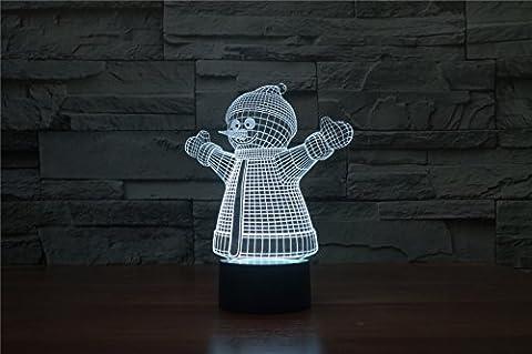 3D créative Lampe LED, alimentation USB, lumineux couleurs peuvent être adapté pour l