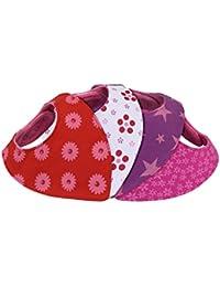 Bavoir bandana bébé fille - lot de 4 - doublé coton éponge et polaire -  triangle - pression - mixte rouge rose blanc avec… 5ee8c3c86d9