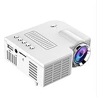 نظام المسرح المنزلي JHMJHM UC28C صغير محمول لبروجكتور صغير للهواتف المحمولة والأسرة، ال اي دي، صغير للأطفال، (أبيض) جهاز عرض فيديو (اللون: أبيض)