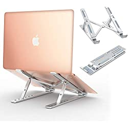Babacom Support Ordinateur Portable Laptop Stand, Support PC Portable Ventilé en Aluminium Réglable Ergonomique Léger pour MacBook Air Pro, Dell, Lenovo, HP, Autres Laptops Tablette iPad jusqu'à 15,6""