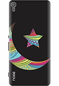 Noise Designer Printed Case / Cover for Sony Xperia XA Dual / Festivals & Occasions / Black Moon Star Design