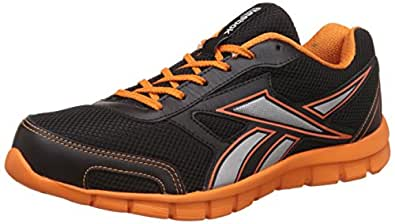Reebok Men's Ree Scape Run Black, Nacho and Met Silver Running Shoes - 10 UK/India (44.5 EU)(11 US) (BS7255)