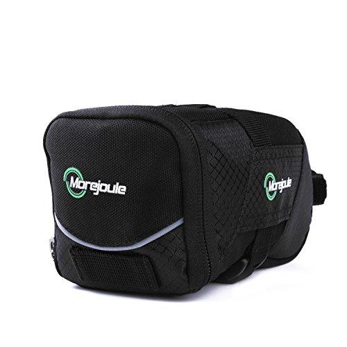 Satteltasche **TopHill**, Premium Fahrradtasche im schicken Design, Schnellverschlusssystem, viel Fassungsvermögen, viele Fächer im Stauraum, für E-Bike, Rennrad und Mountain Bike, wetterfest Schwarz