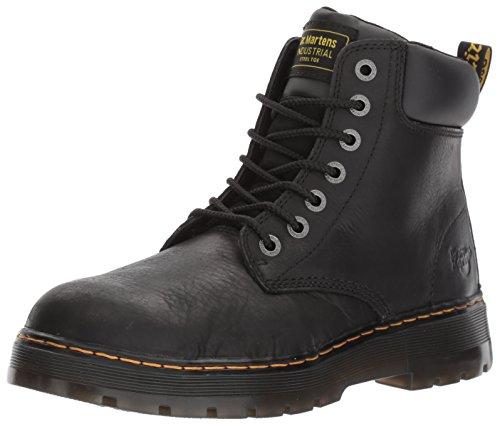 Dr. Martens Men's Winch Steel Toe Work Boots, Black Leather, 8 Ew UK, 9 Ew US Black Steel Toe Work Boot