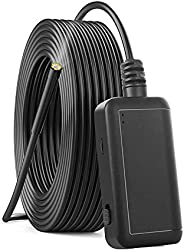 KKmoon F220 5.5mm Industrial Endoscope WiFi Borescope Inspection Camera Built-in 6 LEDs IP67 Waterproof for iO