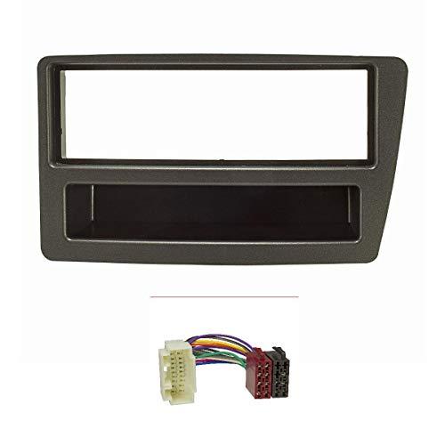 tomzz Audio 2417-009 Radioblende Set passend für Honda Civic Bj.2001-2006 automatische Klimaanlage anthrazit mit Radioadapter ISO
