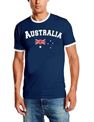 Australien T-Shirt Ringer navy, Gr.XL