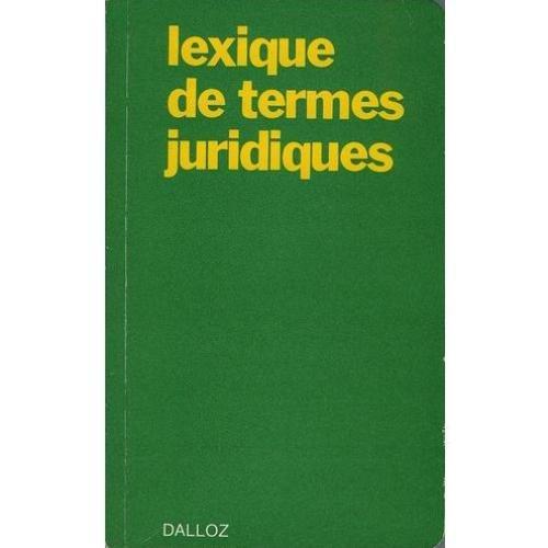 Lexique de termes juridiques