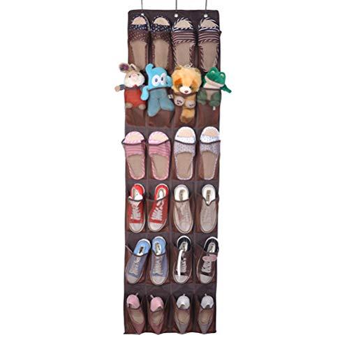 Vankcp Schuh-Organizer mit 24 großen Taschen, strapazierfähiger Tür-Schuh-Aufhänger für schmale Tür, ideal für Schuhe, Kinder-Tassen, Wohnmobil-Aufbewahrung (Tassen-aufhänger)