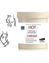 Crème Effet Chaud Lipo Réductrice Anti Cellulite HOT CREAM 1000 ml - Crème Thermo Active Échauffement Musculaire...
