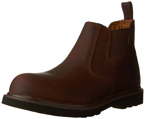 Carhartt Men's CMS4200 4 Romeo Steel Toe Work Boot,Dark Brown Oil Tanned,8 W US Carhartt Steel Toe Boots