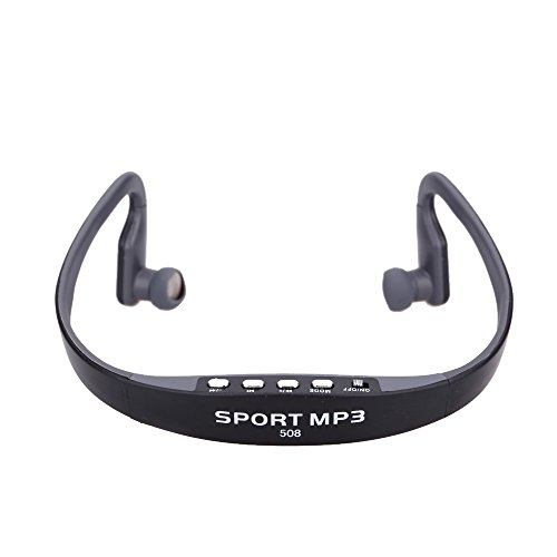 Docooler Tragbare Sport Wireless Headset Kopfhörer TF FM Radio Musik Mp3-player mit Mini USB Port (Jogger Radio)