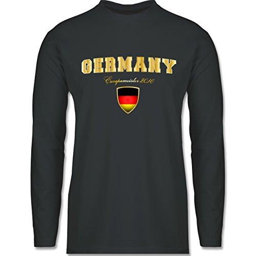 EM 2016 - Frankreich - Germany Europameister 2016 - Longsleeve / langärmeliges T-Shirt für Herren Anthrazit
