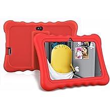Ainol Q88 - Tablet Infantil de 7 Pulgadas Android 4.4 (Regalo para Niños, 1024x600, 8GB ROM, Soporta Tarjeta TF 64GB, con Carcasa Funda Sicolina), Rojo
