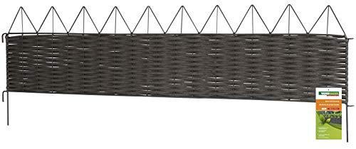 WINDHAGER Valla con borde de pirámides (PVC y metal)