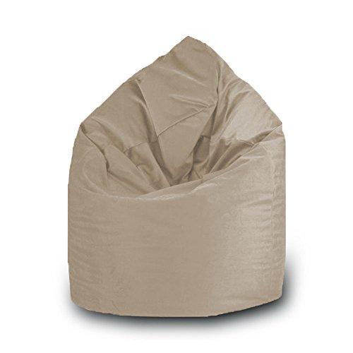 Pufmania Sitzsack Tropfen Kunstleder L 70x 110cm 70 x 110 cm Beige