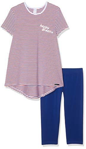 Skiny Mädchen Cosy Night Sleep Girls Pyjama 3/4 Zweiteiliger Schlafanzug, Mehrfarbig (Coral Stripes 2156), 140 -
