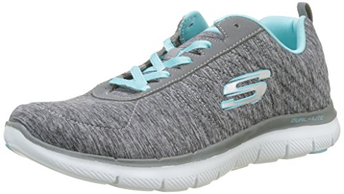 Skechers Women's Flex Appeal 2.0 Trainers, Grey (Grey/Light Blue), 8 UK 41 EU