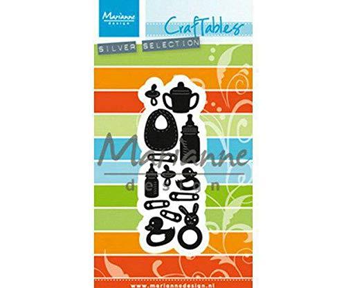 Baby-Dusche Versorgt - Schneiden von Metall Schablone Craftables (1ks), Marianne Design, Dekoration, Metall, Big Shot Embossing, Scrapbooking Papier -
