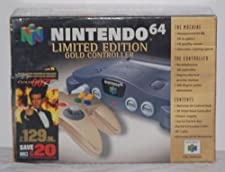 nintendo 64 limited edition gold controller with goldeneye