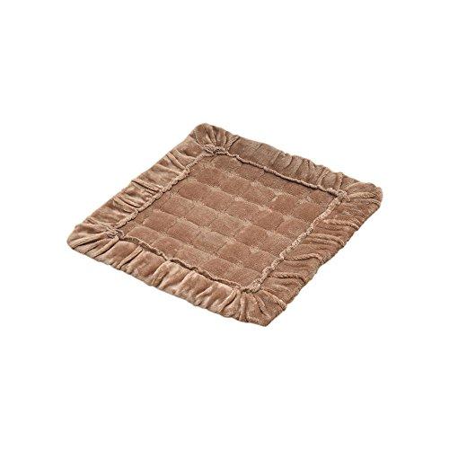 Zhi Jin doux Flanelle galettes de coussin carré Chaise de bureau Coussins avec attaches Pad pour chaise de salle à manger Canapé décoratifs