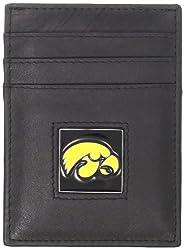 NCAA Iowa Hawkeyes Leather Money Clip/Cardholder
