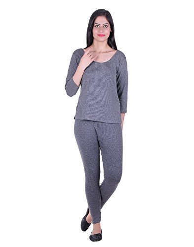 FASHION LINE Women's Grey Thermal FS/LOWER SET(FASHION LINE)
