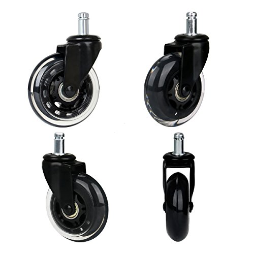 Cusfull ruedas 5pcs para sillas de oficina 11mm x 22mm for Ruedas de goma para sillas