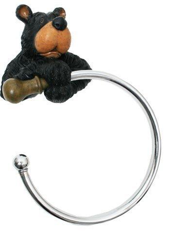 Bär Handtuch-Halter, rund, 12 cm, mit Bär Handtuch-Ringe