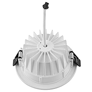 Amzdeal 9W LED Round Recessed Downlight Aluminium Alloy Ceiling Spot Light for Indoor Lighting
