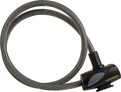 Stanley Fahrradschloss Kabelschloss (12mm x 900mm, 3 Schlüssel) S755-203