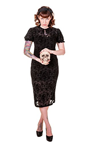 Banned Apparel - Black Gothic Retro Dress M
