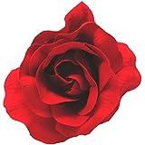 DangerousFX - Grande fermaglio per capelli, stile Burlesque, Carmen, fiore per ballerina di flamenco, in tessuto, con rosa rosso acceso