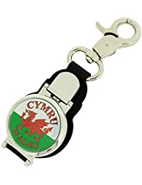 Boxx Gents Watch CYMRU Welsh Flag Picture Keyring Fob & Magnetic Closure Boxx344