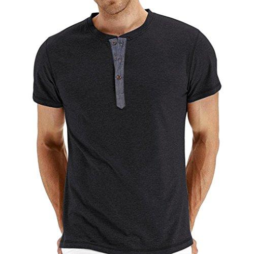 CLOOM t Shirts Uomo Uomo Estate Slim Casual Forma Cotone Manica Corta Camicia Maglietta Superiore Camicetta Uomini di Marca Casual Maniche Camicie