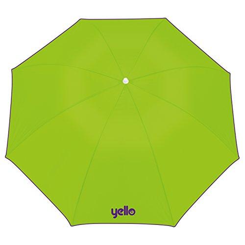 Yello Sonnenschirm, Lichtschutzfaktor 40,1,60 m, Sonnenschutz für Strand und Garten-grün